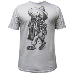 Men's Borracho T-Shirt by Opie Ortiz Skeleton Latino Sombrero Ink Tattoo