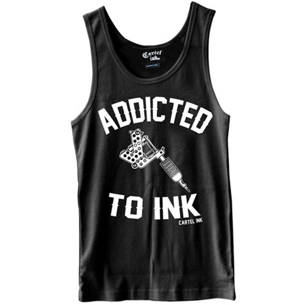 Men's Cartel Ink Addicted to Ink Tank Top Inked Tattoo Tattooed Life