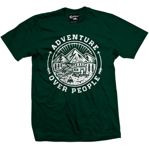 Men's Cartel Ink Adventure Over People T-Shirt Forest Summer Camping