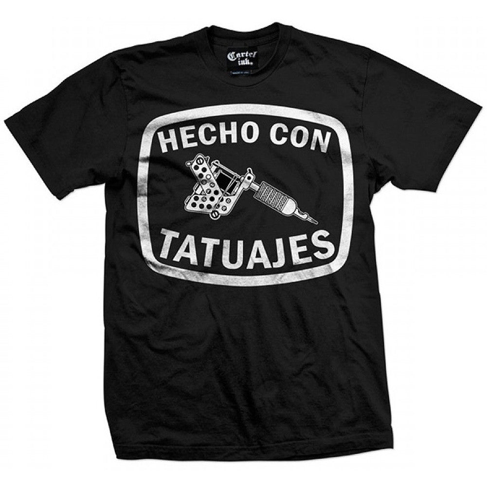 Men's Cartel Ink Hecho Con Tatuajes T-Shirt Made With Tattoos Inked Tattooed