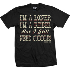 Men's Cartel Ink I'm A Loner T-Shirt Black Rebel Cuddles