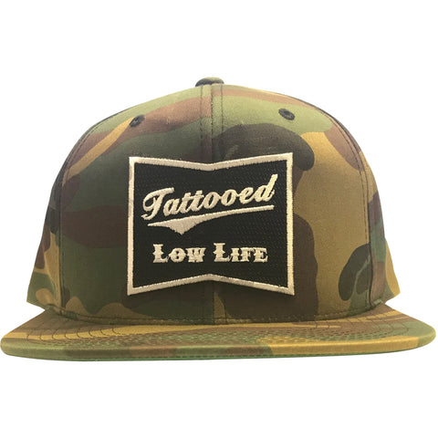 Cartel Ink OG Tattooed Low Life Embroidered Patch Camouflage Snapback Hat  Camo