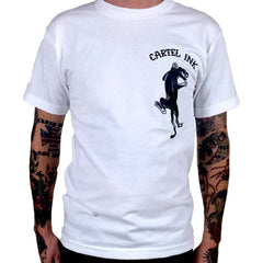 Men's Cartel Ink Panther Flash T-Shirt White American Traditional Tattoo