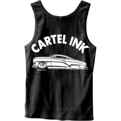 Men's Cartel Ink Rolling Hard Tank Top Black Mercury Lead Sled Kustom Kulture