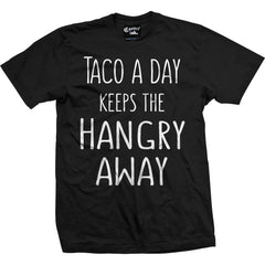 Men's Cartel Ink Taco A Day T-Shirt Black Food Latino