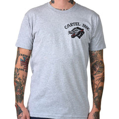 Mens Cartel Ink Tattoo Flash One T-Shirt Heather Grey American Traditional