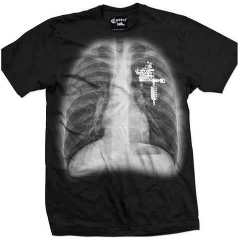 Men's Cartel Ink Tattoo Soul T-Shirt Black X-Ray Tattoo Machine