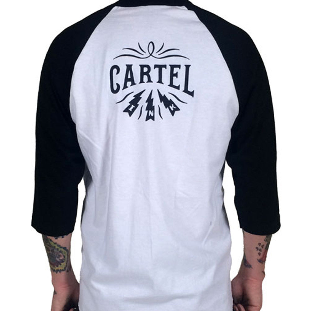 Men's Cartel Ink Tattooed And Self Made Jersey T-Shirt White Tattoo Inked Life
