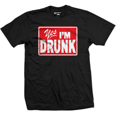 Men's Cartel Ink Yes I?m Drunk T-Shirt Black Brooze Drinking Alcohol Party