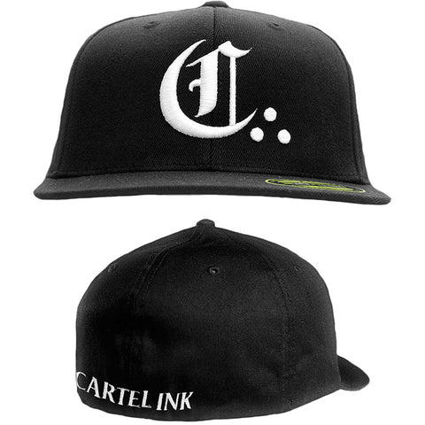"Men's Cartel Ink ""The Big C"" Flat Bill Baseball Cap Logo Tattoo Lifestyle"