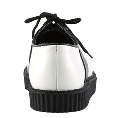 Men's Demonia Creeper-606 Platform Saddle Shoe White/Black Retro Rockabilly