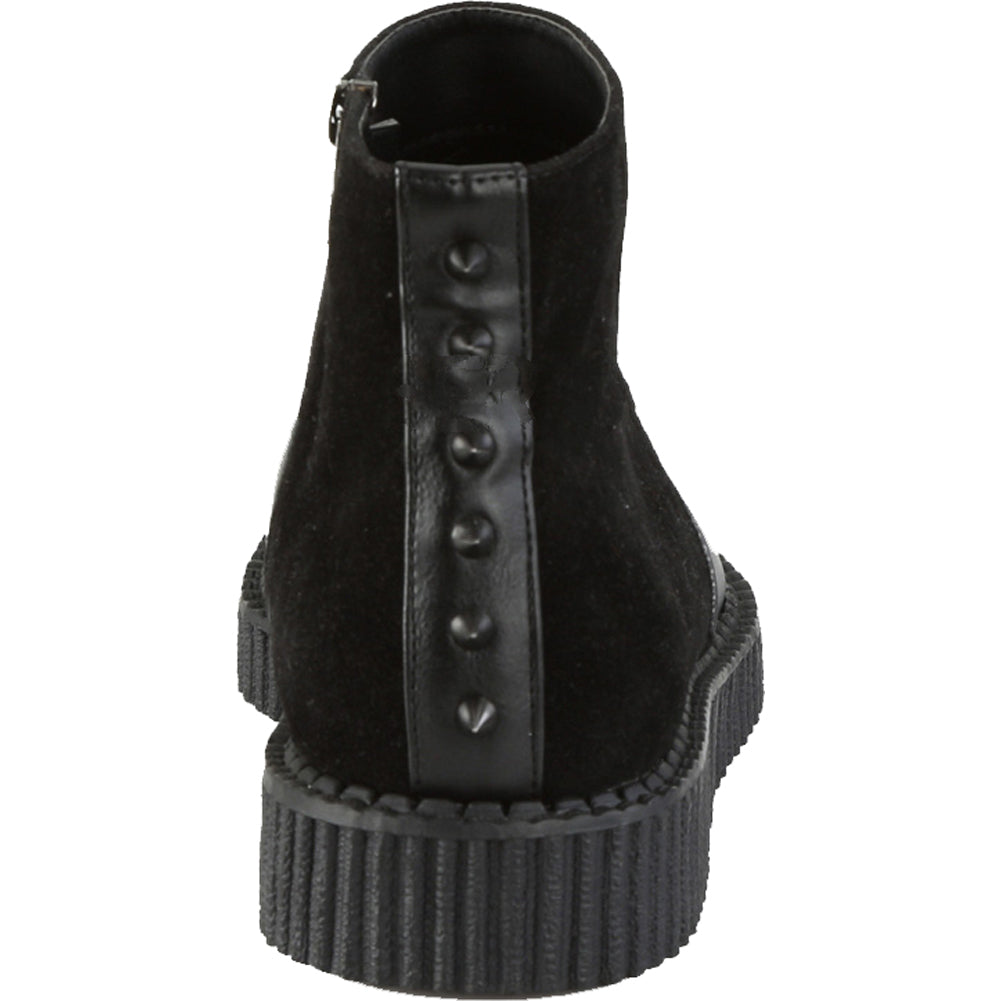 Men's Demonia V-CREEPER-750 Platform Ankle Boot Black Spikes Goth Punk