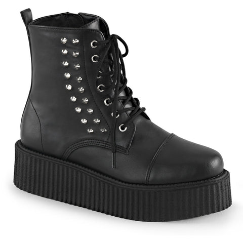 Unisex Demonia V-Creeper-573 Platform Ankle Boot Black