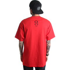 Men's Fatal Whiskey T-Shirt Red Coffin Skeleton Keys Streetwear Kustom Kulture