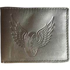 Men's Gypsy Treasures Flying Wheel Leather Bi-Fold Wallet Motorcycle Wings