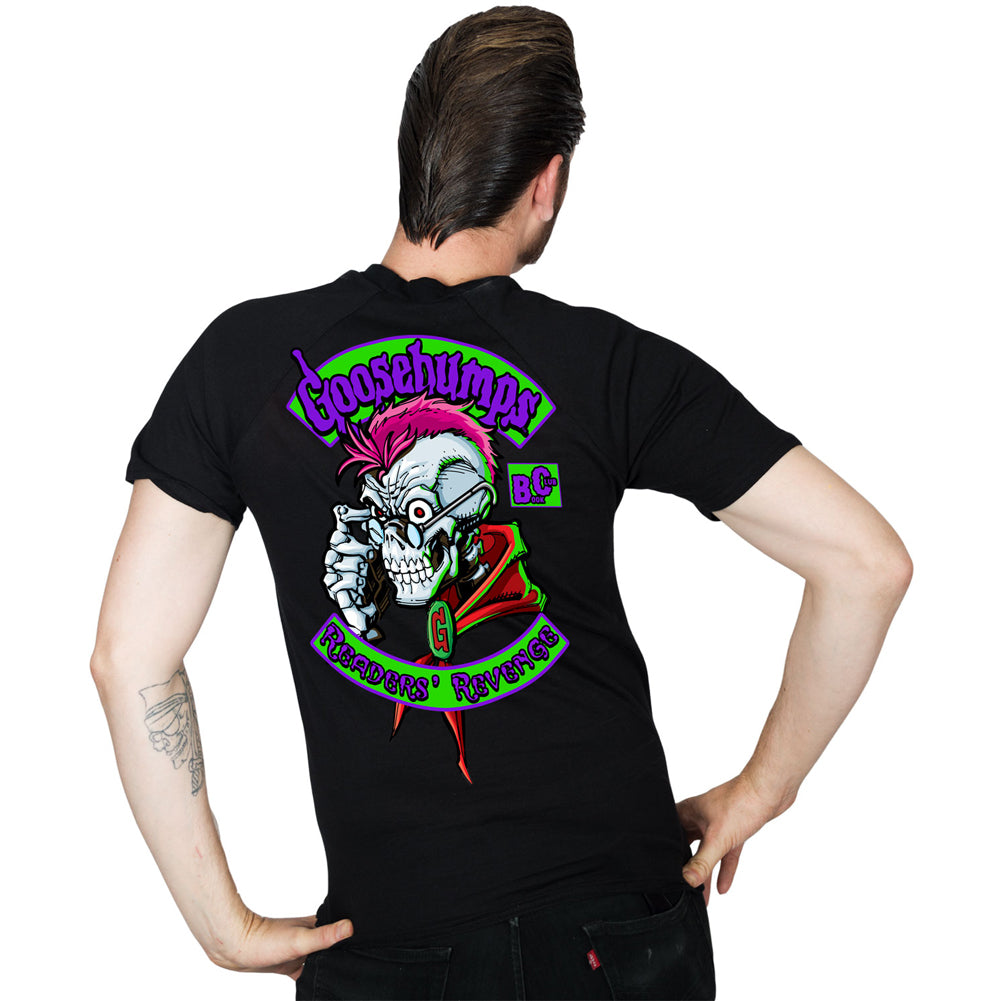 Men's Kreepsville Goosebumps Readers Revenge T-Shirt Black Horror Skull