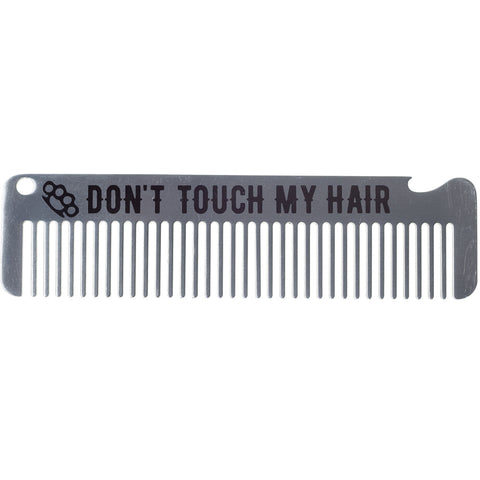Men's Kustom Kreeps Don't Touch My Hair Metal Comb Psychobilly Rockabill