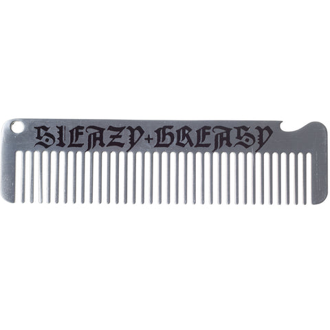Men's Kustom Kreeps Sleazy & Greasy Metal Comb Psychobilly Rockabilly