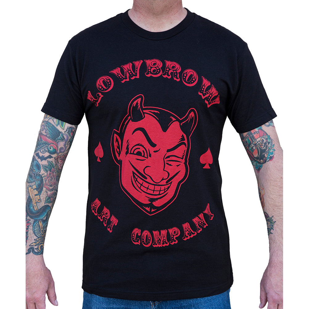 Men's Lowbrow Art Red Devil T-Shirt Black