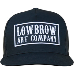 Lowbrow Art Western Trucker Hat Black Logo