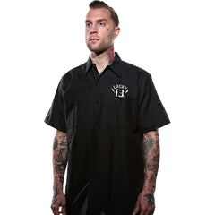 Men's Lucky 13 Apparel Black Sin Workshirt Black