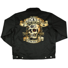 Men's Lucky 13 Booze Bikes And Broads Lined Chino Jacket Skull Iron Cross Devil