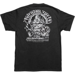 Men's Lucky 13 The Wiz T-Shirt Black Motorcycle Wizard Kustom Kulture