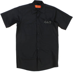 Men's Lucky 13 True Custom Work Shirt Black Classic Car Rockabilly