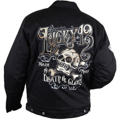 Men's Lucky 13 Ye Olde  Jacket Chino Style Skull Crossbones Death Or Glory