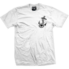 Men's Mens Cartel Ink Strength and Honor T-Shirt White Loyalty Respect Nautical