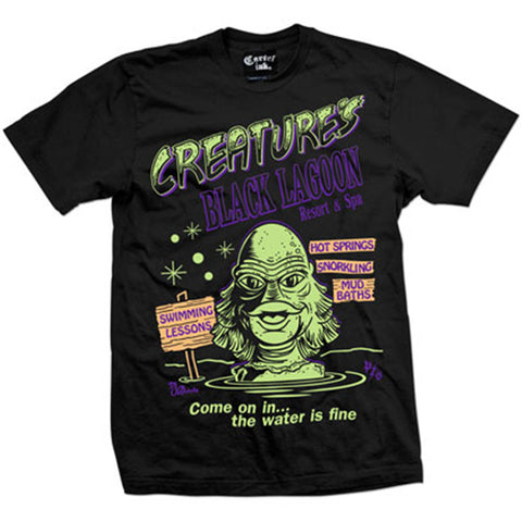 Men's Pinky Star Creature's Resort and Spa T-Shirt Sea Monster Horror