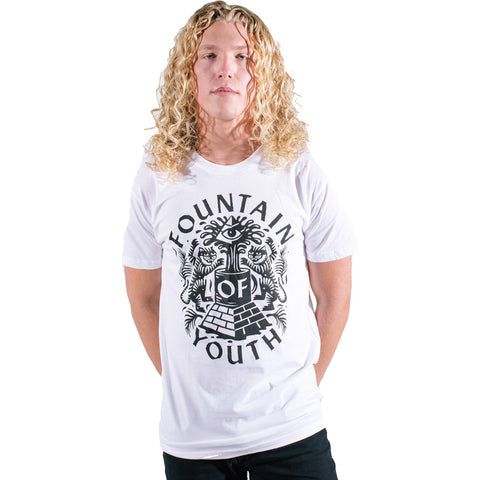 Men's Pyknic Fountain Of Youth T-Shirt White Coffee Tigers