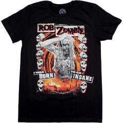 Men's Rob Zombie Born to Go Insane T-Shirt Music Rock N Roll Metal Industrial