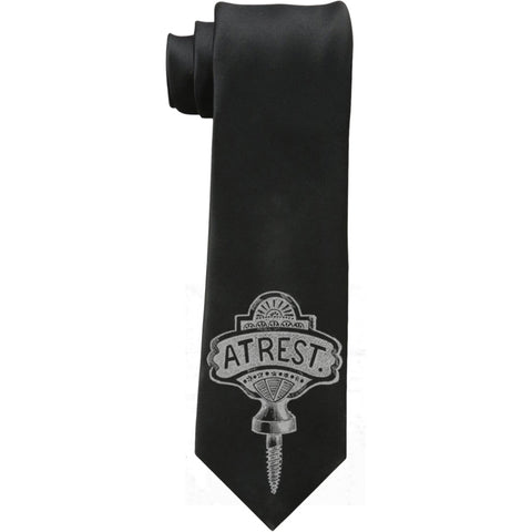 Se7en Deadly At Rest Necktie Charcoal Coffin Screw Macabre Goth