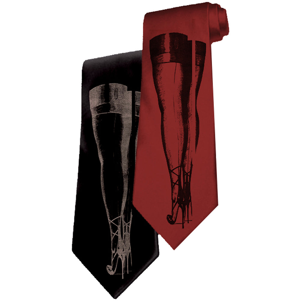 Men's Se7en Deadly Temptress Legs Necktie Pin Up Burlesque Sexy