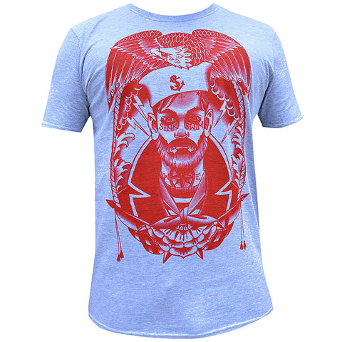 Men's Sink or Swim T- Shirt by Charlie Coffin Nautical Tattooed Sailor Eagle