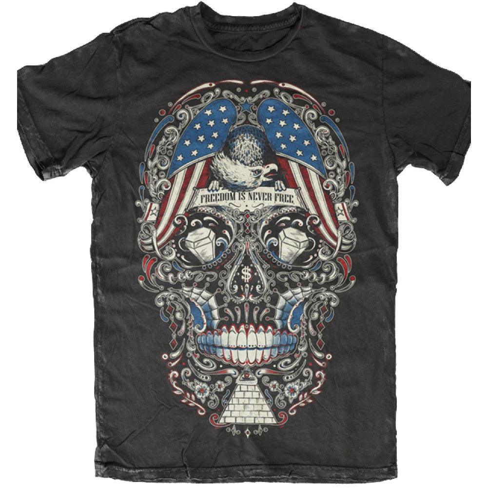 Men's Skygraphx Free for the Dead Sugar Skull T-Shirt