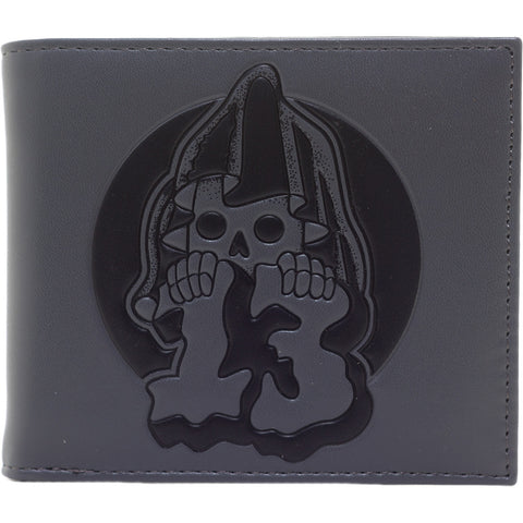 Men's Sourpuss Grim 13 Wallet Gray Grim Reaper Goth Punk  Psychobilly