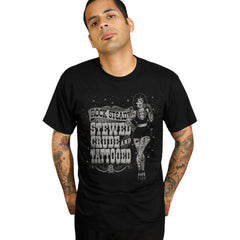 Men's Steady Stewed & Tattooed T-Shirt Black