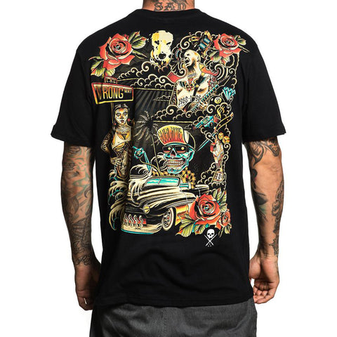 Men's Sullen All Wrong T-Shirt Black Sublime Collab Tattoo Art Lifestyle