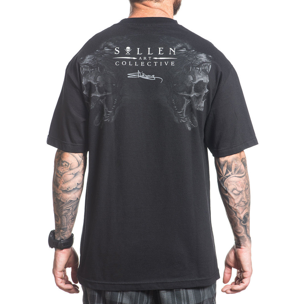 Men's Sullen Head Eater T-Shirt Black Wolf Skull Tattoo Art Lifestyle Brand