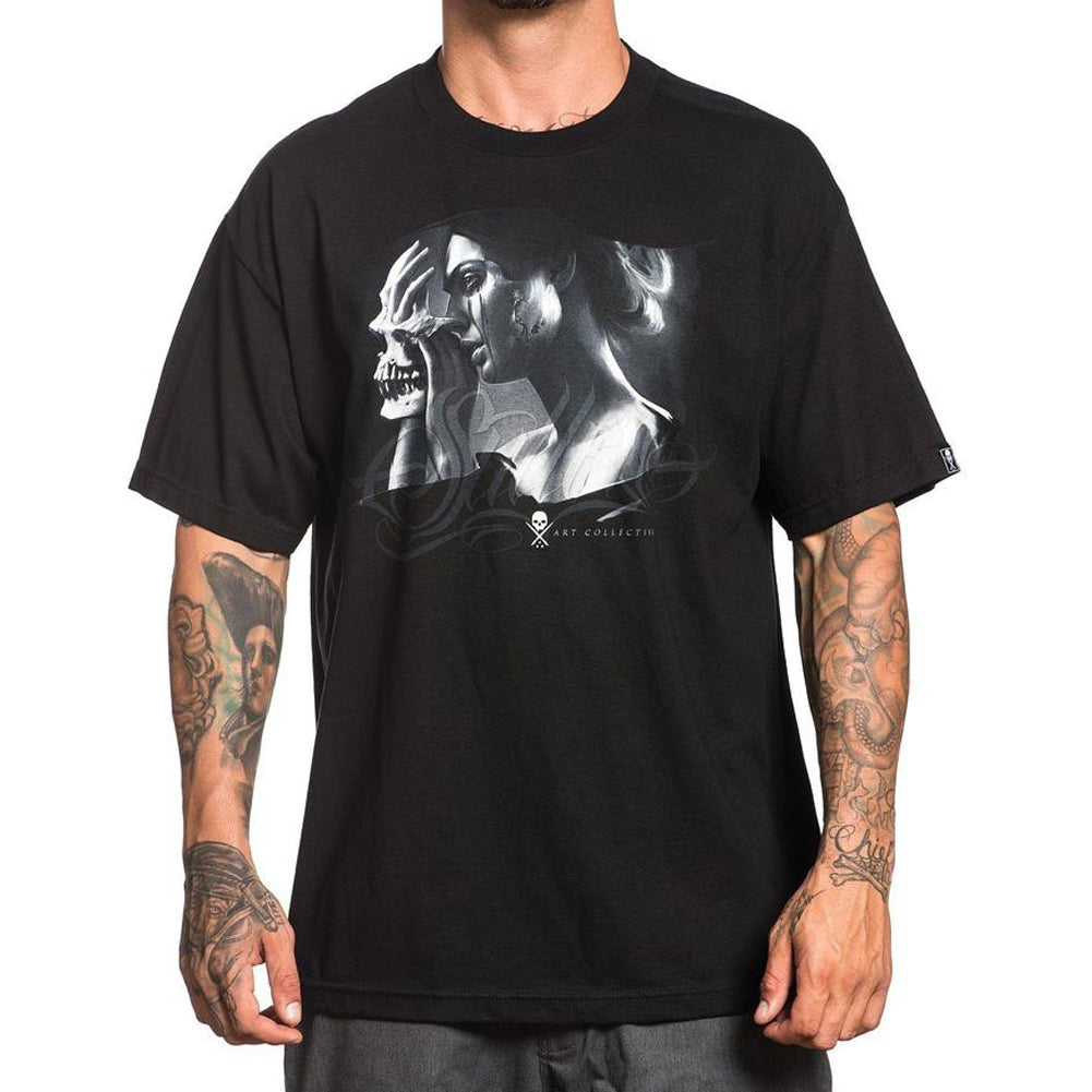 Men's Sullen Layers T-Shirt Black Woman Skull Mask Tattoo Art Lifestyle Brand