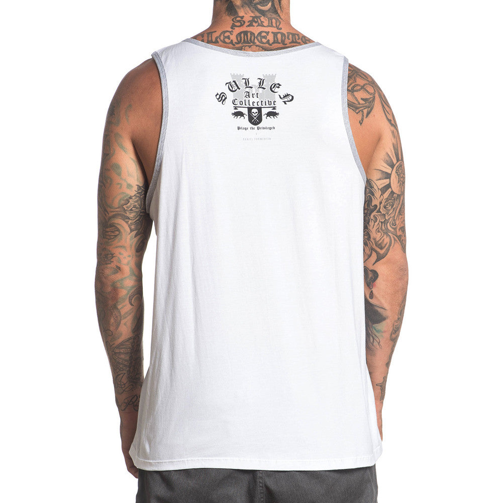 Men's Sullen Pilage Tank Top White Skull Horse Tattoo Art Lifestyle