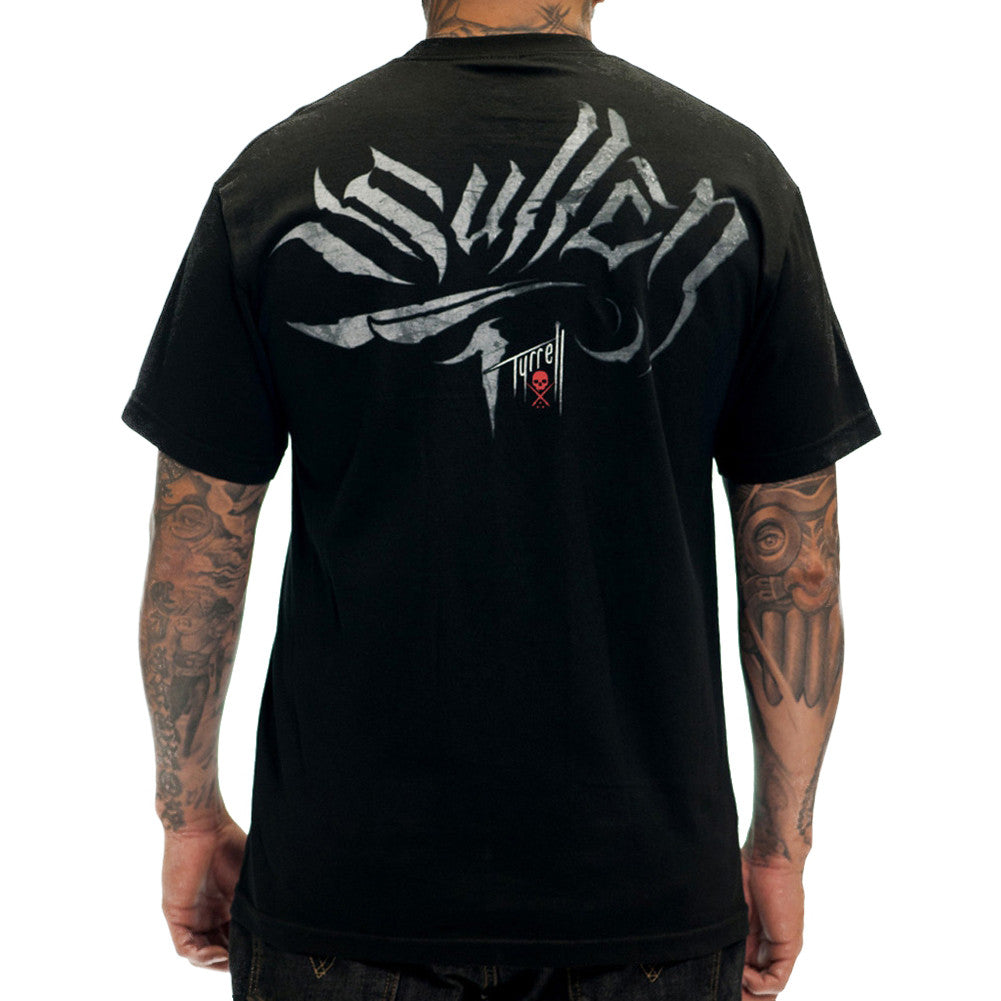 Men's Sullen Tyrrell T-Shirt Black Skull Octopus Tattoo Art