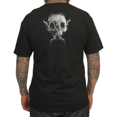 Men's Sullen Written T-Shirt Black Skull Tattoo Art Lifestyle Brand