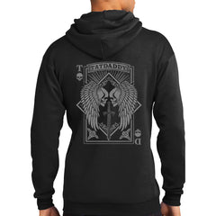 Men's Tat Daddy Aces High Hoodie Black Wings Sword