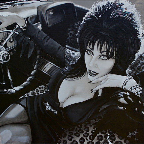 Misstress of the Dark by Mike Bell Elvira B-Movies Horror Retro Canvas Giclee