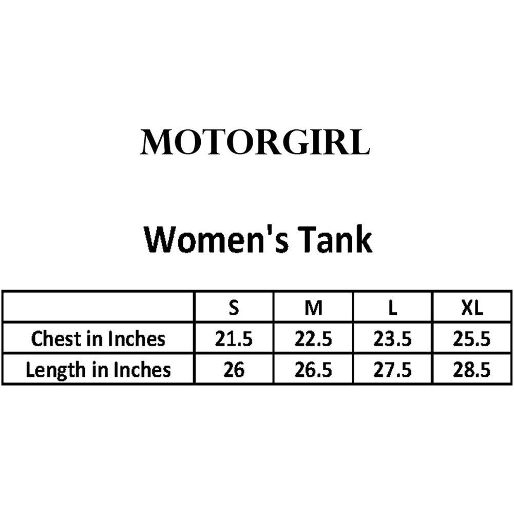 Women's MotorGirl Your Turn Racer Back Tank Top Black Iron Cross Car Lover