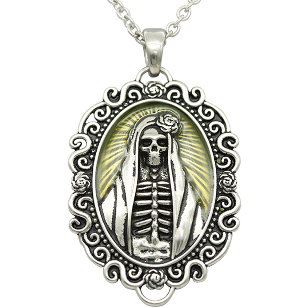 Controse Jewelry The Madonna Skull Cameo Necklace