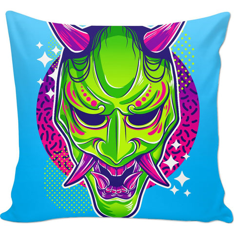Neon Hannya Pillow